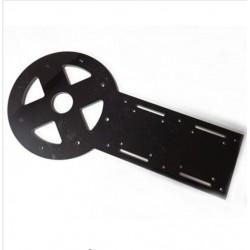 Plaque PTZ 2mm Aluminium pour bras robotique