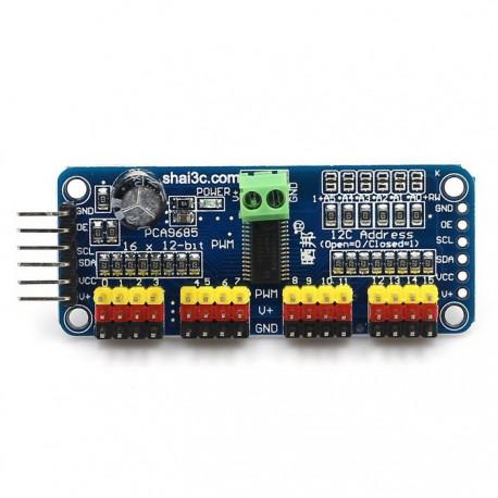 Contrôleur 16 servos - SPI 12 bits
