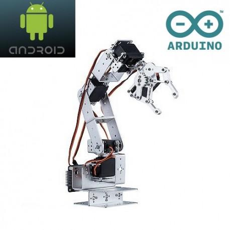 Bras robot 6 axes Android Arduino en kit