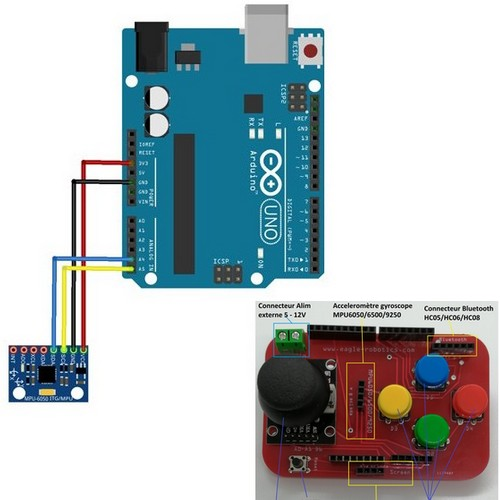 Module MPU-6050 et Arduino : Une question d'equilibre