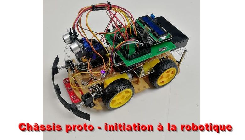 Châssis robot pour l'initiation à la robotique